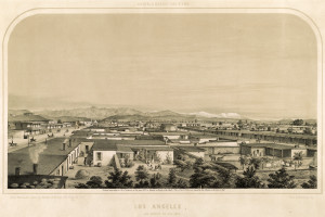 Los Angeles. Entered according to Act of Congress, in the year 1857, by Kuchel & Dresel, in the Clerk's Office of the U.S. District Court for Northern District of Cal.
