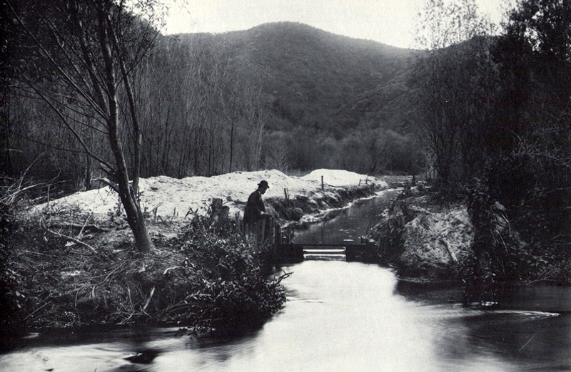The Los Angeles River running through Griffith Park between 1898 and 1910. (Bizarre Los Angeles)