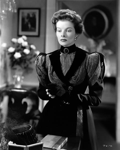 """Katharine Hepburn in """"A Woman Rebels"""" (1936). Bizarre Los Angeles"""