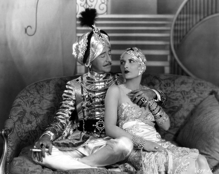 """Adolphe Menjou and Evelyn Brent in """"His Tiger Lady"""" (1928). Bizarre Los Angeles"""