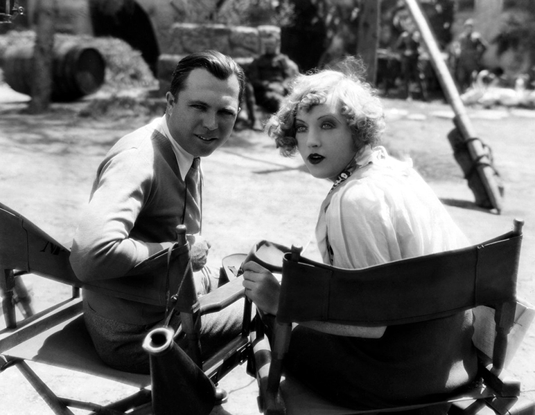 """King Vidor and Marion Davies on the set of """"Show People"""" (1928) Bizarre Los Angeles"""