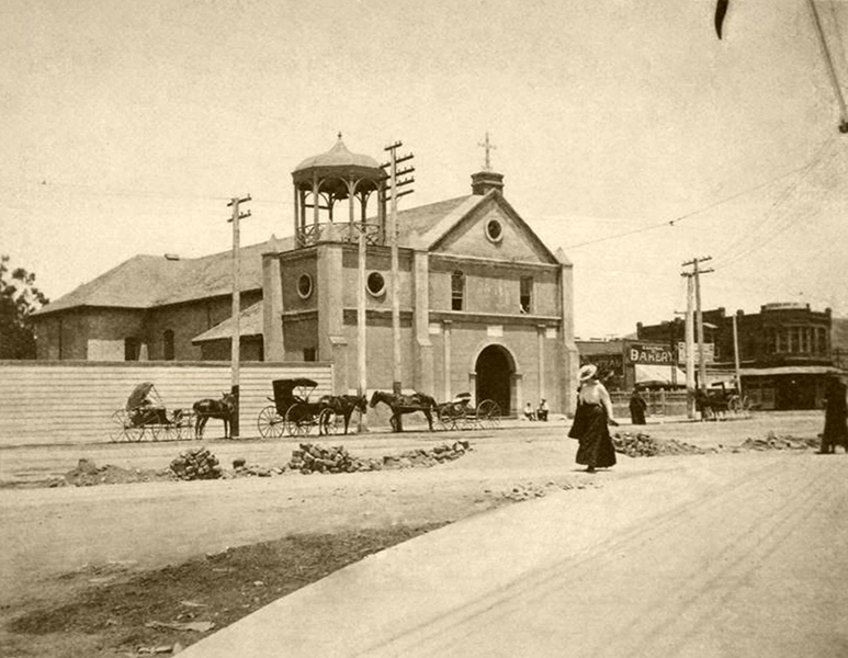 1890's LOS ANGELES PLAZA CHURCH