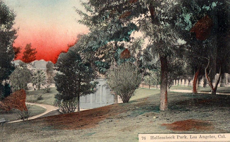 1909 LOS ANGELES Hollembeck Park Lake