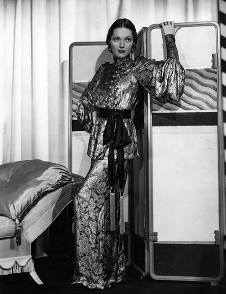 """""""Adrienne Ames knows how to wear clothes -- what very few women possess. She's always alert to style trends and articulates them. She buys plenty of clothes."""" -- Travis Benton, 1930s Paramount Studios costume designer. (Bizarre Los Angeles)"""