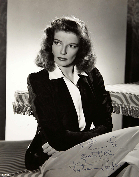 """I like to have my 'fans,' of course, but I think that giving autographs is silly. It would be quite impossible to sign my name for everybody, so I discourage the paper and pencil habit, while appreciating their enthusiasm in waiting till I go from the theatre to my car."" -- Katharine Hepburn (Bizarre Los Angeles)"