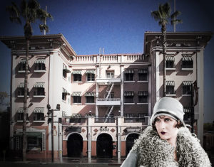 Hill View Apartments on Hollywood Blvd. Former home of Evelyn Brent. (Bizarre Los Angeles)