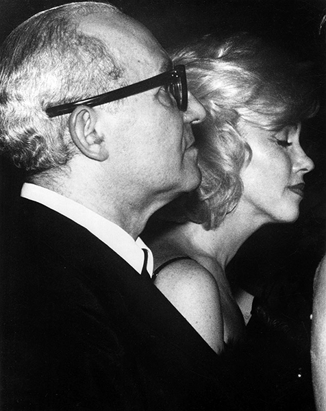 Lee Strasberg and Marilyn Monroe, c. 1961. Bizarre Los Angeles