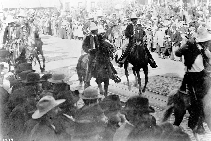 The Fiesta de Los Angeles in 1895 was a major social event that took place between April 15 - 20, and was touted as the Mardis Gras of Southern California, with its masquerade parties, beauty queen, etc. (Bizarre Los Angeles)