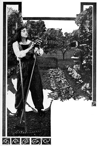 Norma Talmadge gardening (Bizarre Los Angeles)