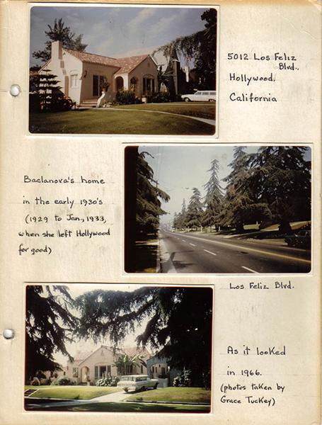 Olga Baclanova's home in the 1960s. (Bizarre Los Angeles)