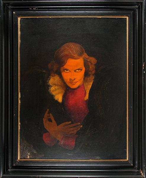 Katharine Hepburn painting