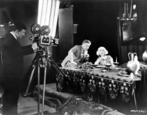 Director Fred Noblo and Carmel Myers on the set of Ben-Hur (1925). Bizarre Los Angeles