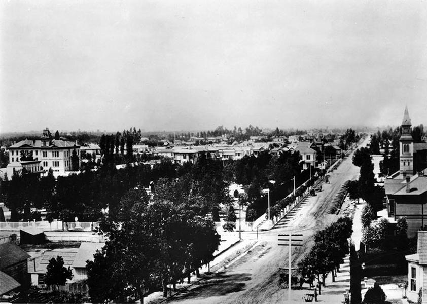Olive Street dtla 1880s