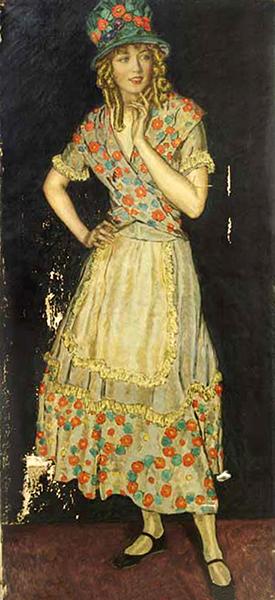 Marion Davies painting. Artist: Nikol Shattenstein. Bizarre Los Angeles