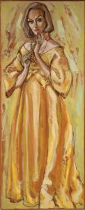 Gloria Swanson Oil Painting
