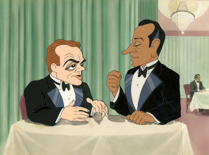 James Cagney George Raft cartoon