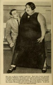 Josephine Williams - largest extra girl in Hollywood, c. 1927. Bizarre Los Angeles.