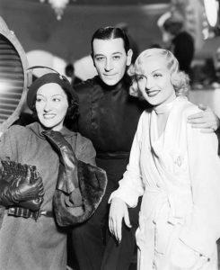 "Gloria Swanson, George Raft and Carole Lombard on the set of ""Bolero"" (1934). Bizarre Los Angeles"