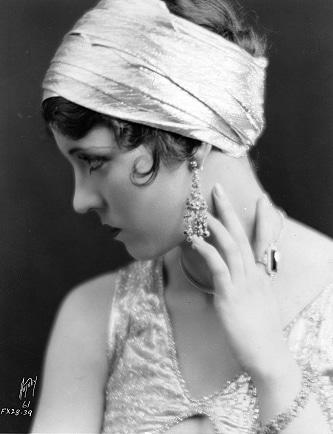 Olive Boden in profile, circa 1926, (Bizarre Los Angeles)