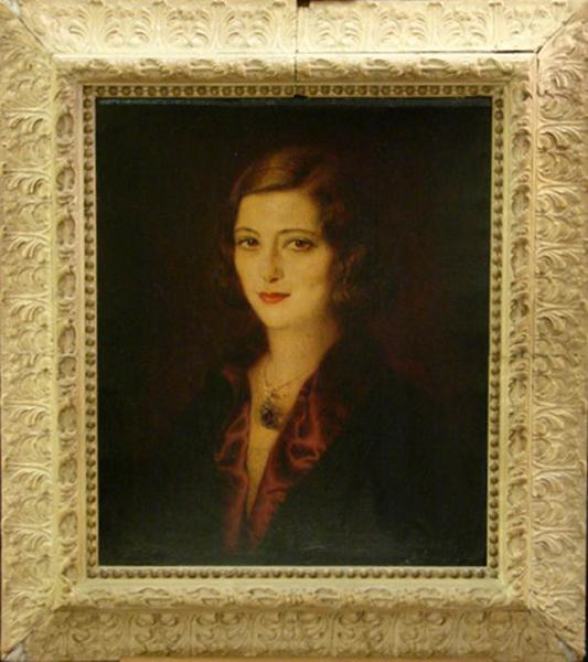 Pola Negri painting
