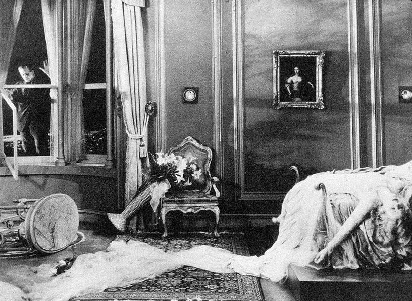 "Boris Karloff and Mae Clarke in ""Frankenstein."" Bizarre Los Angeles"