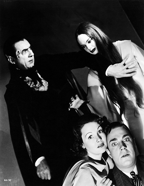 "Bela Lugosi, Elizabeth Allan, Henry Wadsworth and Carroll Borland in ""Mark of the Vampire"" (1935). Bizarre Los Angeles"