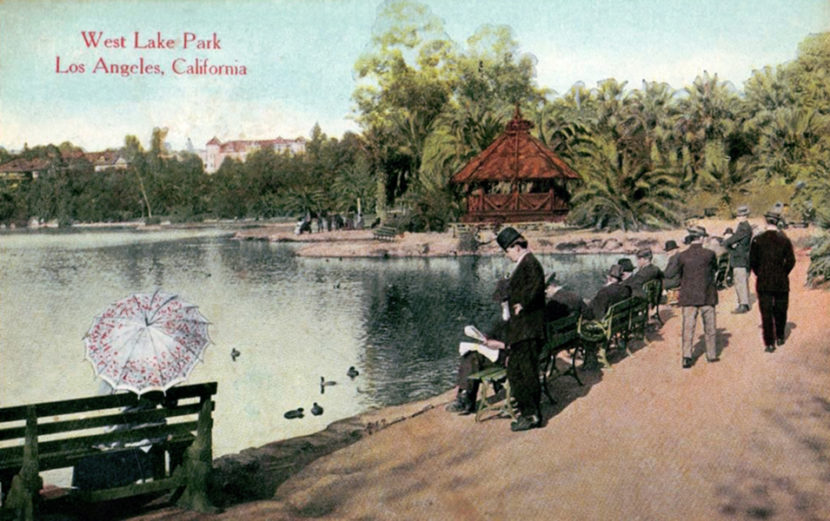 1908 Los Angeles California, West Lake Park