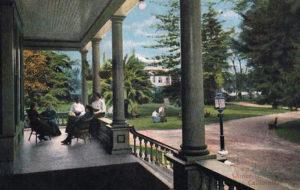 1910 Los Angeles CA Postcard Winter in California Ladies on Porch