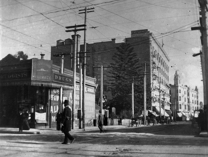 Fourth and Spring Streets Los Angeles 1898