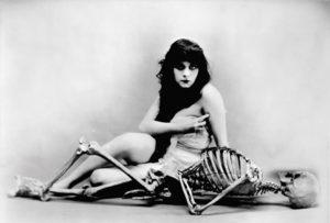Theda Bara skeleton