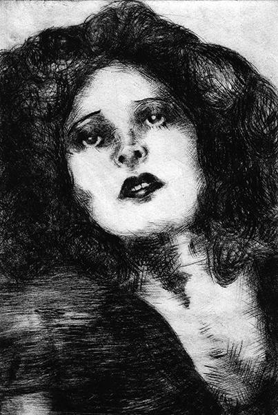 Clara Bow Sketch