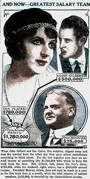 Ina Claire John Gilbert Herbert Hoover