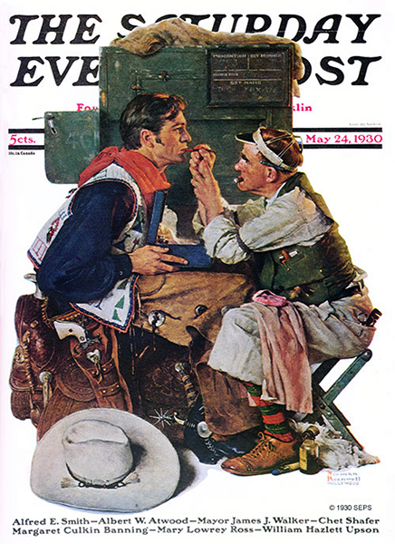 Gary Cooper Norman Rockwell