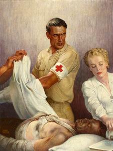 Gary Cooper painting 1944