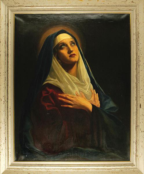 Marian Marsh painting