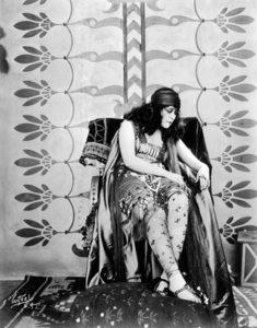 Theda Bara as Salome in 1918. (Bizarre Los Angeles)