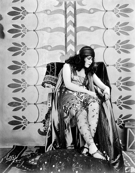 """I'm glad to get a rest once in awhile. Some people think making pictures is just play, but it is real work."" -- Theda Bara (Bizarre Los Angeles)"