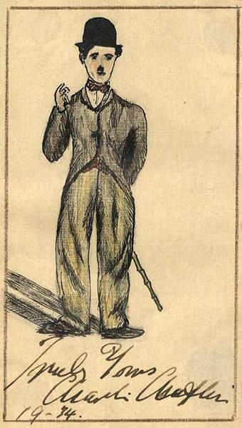 Charlie Chaplin caricature