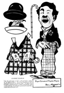 Charles Chaplin paper doll Motion picture Magazine