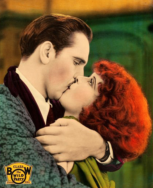 Wild Party Fredric March Clara Bow kissing