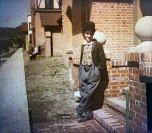 Charles Chaplin in color 1918