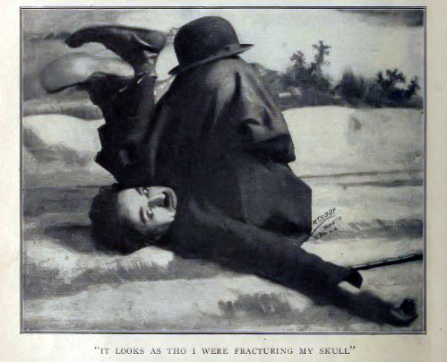Chaplin falling down