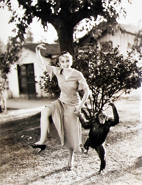 Joan Blondell monkey