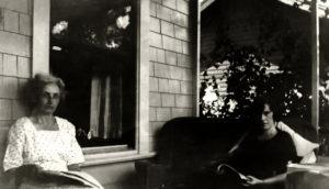 Reading porch two women 1923