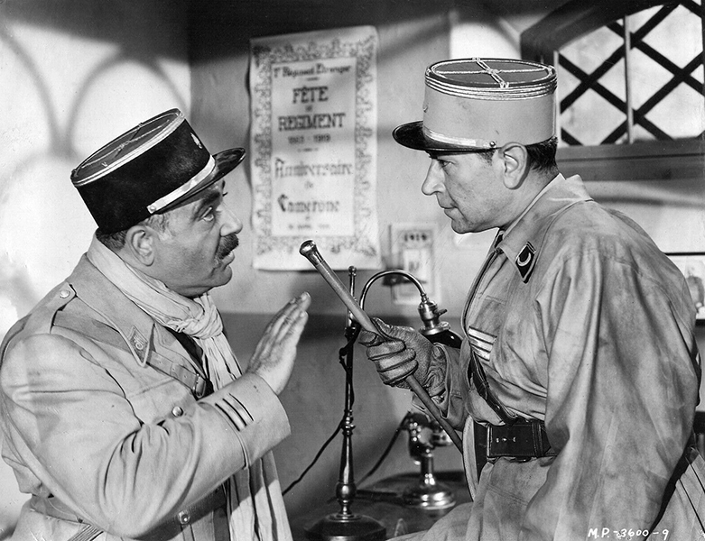 """Akim Tamiroff and George Raft in """"Outpost in Morocco"""" Bizarre Los Angeles"""