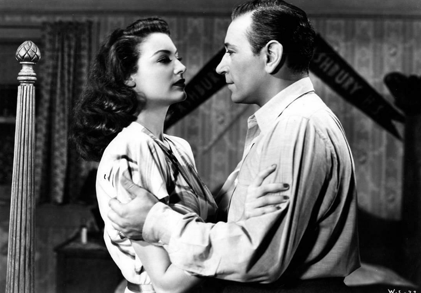 "Ava Gardner and George Raft in ""Whistle Stop"" (1945). Bizarre Los Angeles"