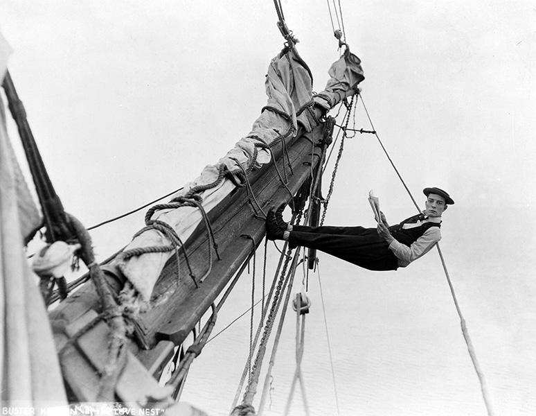"Buster Keaton in ""The Love Nest"" (1923). Bizarre Los Angeles"