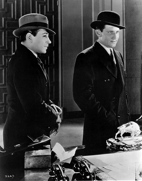 "George Raft and Spencer Tracy in the 1931 gangster film ""Quick Millions."" (Bizarre Los Angeles)"