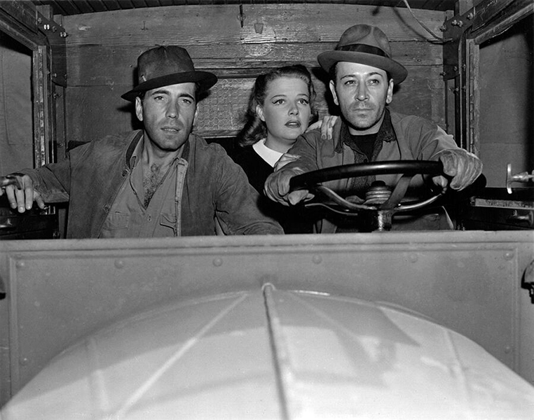 """Humphrey Bogart, Ann Sheridan and George Raft in """"They Drive by Night"""" (Bizarre Los Angeles)"""