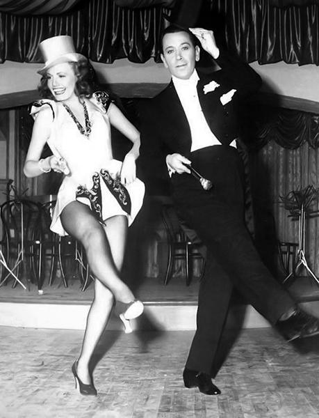 "Janet Blair and George Raft in ""Broadway"" Bizarre Los Angeles"